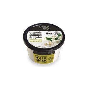 Organic Shop – Masca de par pentru volum cu iasomie si jojoba, 250 ml, Romania
