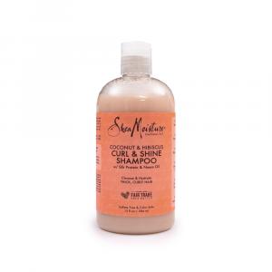 Shea Moisture - Sampon cu extract de cocos si hibiscus 384 ml