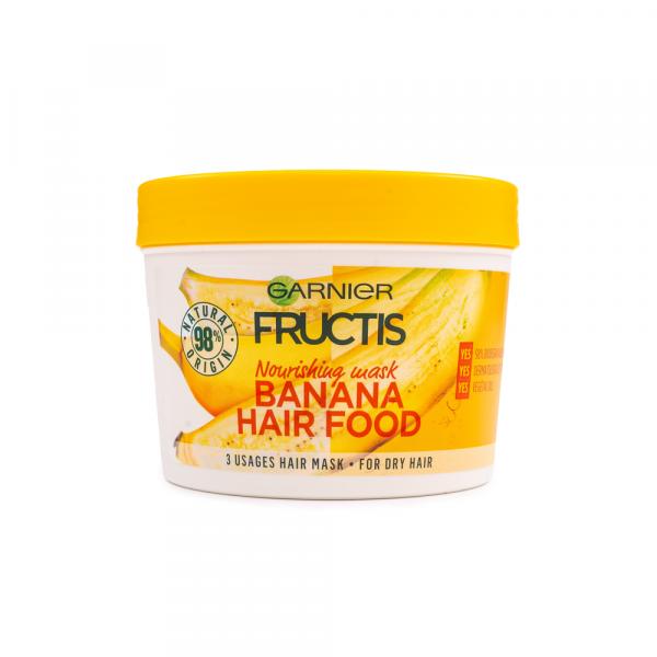Garnier – Masca nutritiva 3 in 1 Fructis Banana Hair Food 390 ml