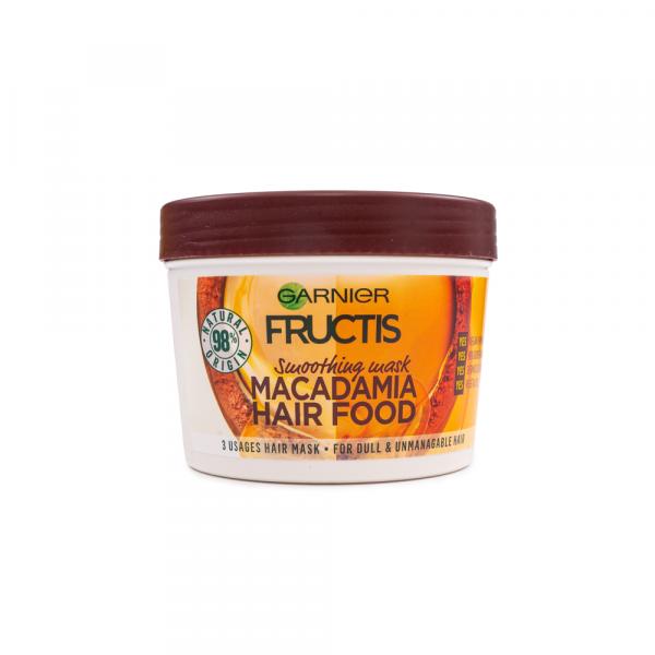 Garnier – Masca par indisciplinat 3 in 1 Fructis Macadamia Hair Food 390 ml