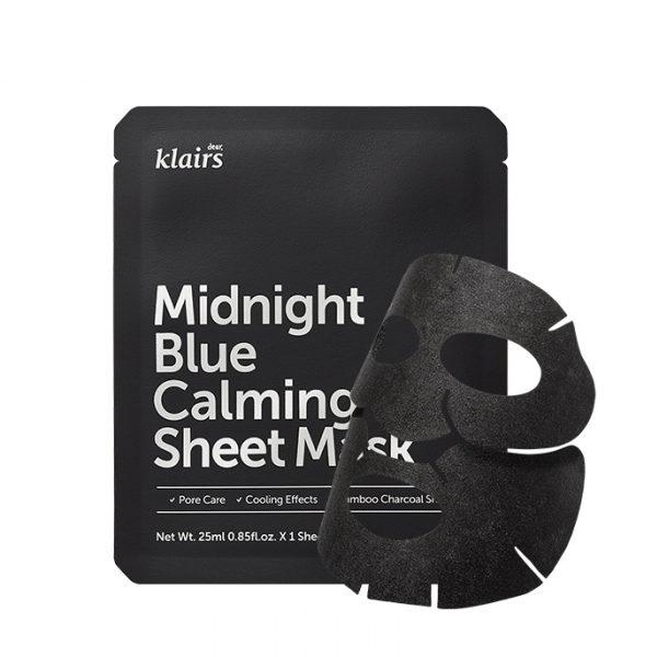 Midnight Blue Calming Sheet Mask, Dear Klairs, Romania