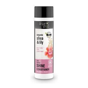 Organic Shop – Balsam de par pentru stralucire Silk Nectar, 280 ml, Romania
