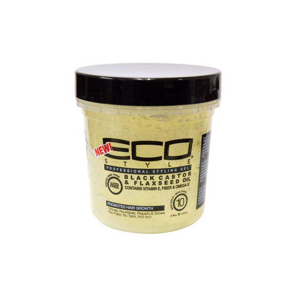 Eco Styler - Gel cu ulei de ricin negru si seminte de in 236 ml, Romania