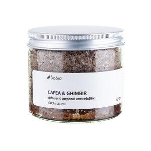 Sabio - Exfoliant anticelulitic cu cafea si ghimbir 250 ml, Romania