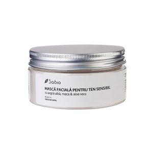 Sabio - Masca faciala cu argila alba, maca si Aloe Vera 250 ml, Romania