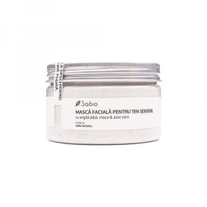 Sabio - Masca faciala cu argila alba, maca si Aloe Vera 250 ml