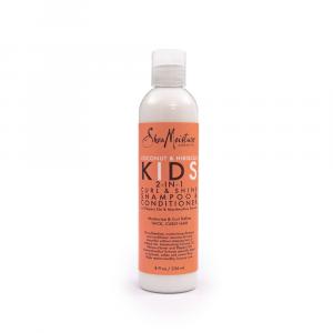 Shea Moisture – Sampon si balsam pentru copii 2-in-1 Curl&Shine 236 ml