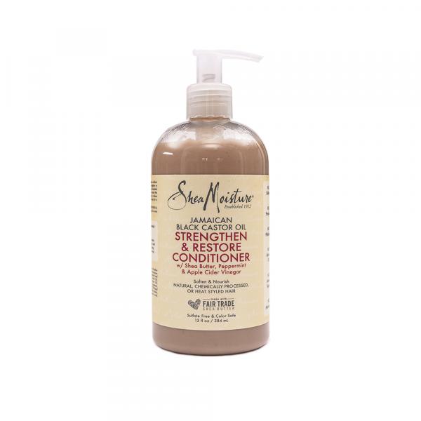 Shea Moisture – Balsam fortificant si restructurant cu ulei de ricin jamaican 384 ml